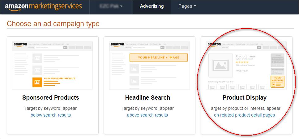 Die Amazon Werbeanzeigen-Formate.