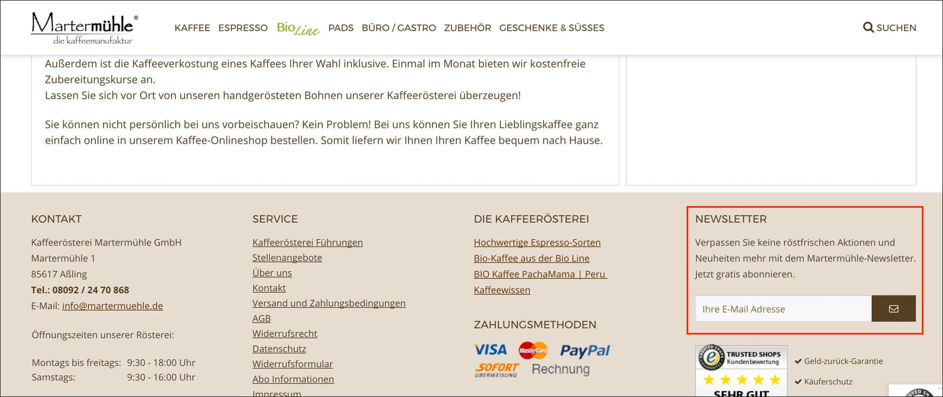 Newsletter zur Online Personalisierung.