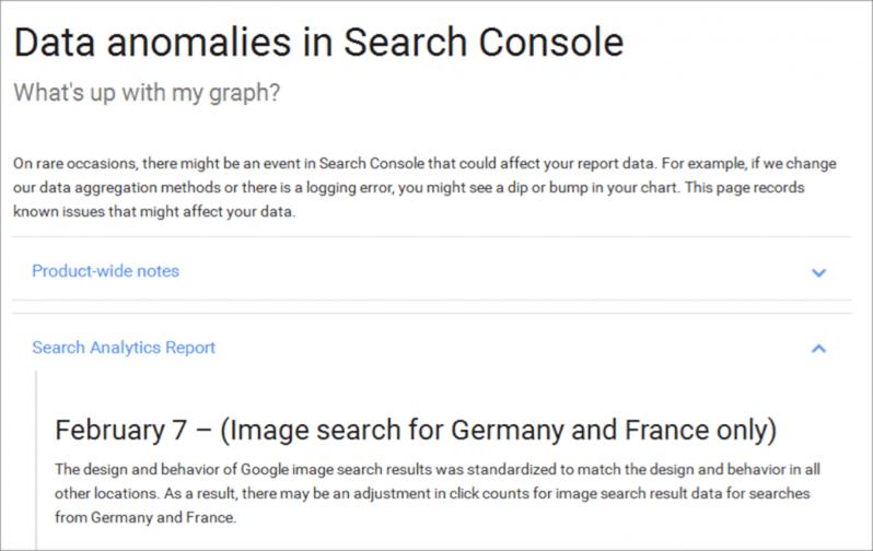 seo google search console benachrichtigung