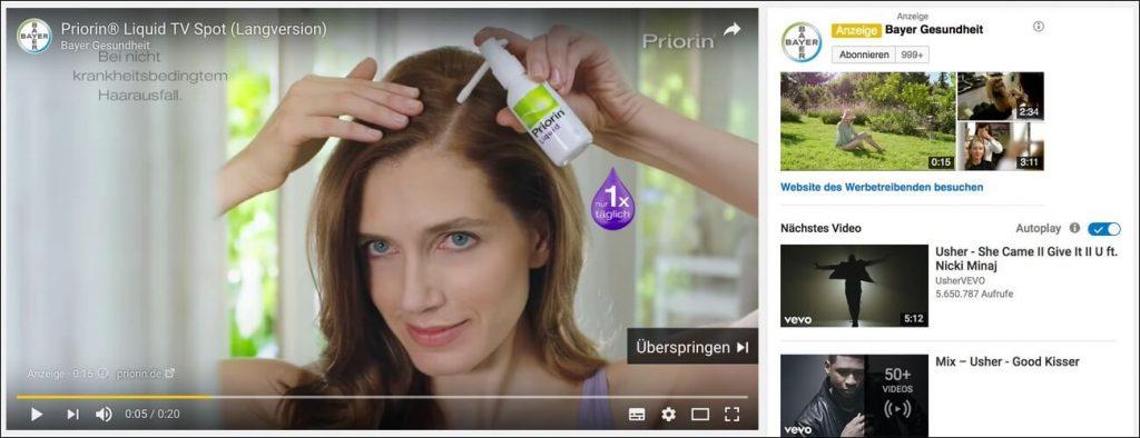 TrueView-In-Stream-Anzeigen auf YouTube.